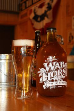 War Horse's Riesling Ale (from the War Horse microbrewery)--Sometimes wine doesn't quite quench your thirst like a nice cold pilsner does..