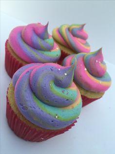 Rainbow Cupcakes: Vanilla Raspberry and Classic Chocolate