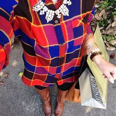 What a great Instagram photo of our Lucky Brand Boyfriend Flannel, worn by blogger Courtney Clymer of LifeStyled in November 2014.