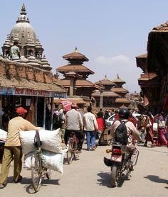 The busy city of Kathmandu, Nepal