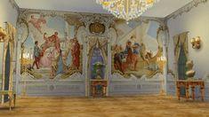 Regal Sims: Villa Widmann Rococo Wall Mural • Sims 4 Downloads