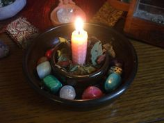 Altars:  Simple #Altar bowl. Wicca Witchcraft, Wiccan, Magick, Meditation Altar, Pagan Altar, Home Altar, Altar Decorations, Witch Aesthetic, Practical Magic