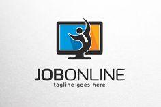 Job Online Logo Template by gunaonedesign on @creativemarket