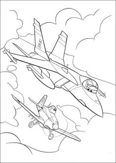 Free Coloring Pages of Planes Picture 7 550x770 Picture
