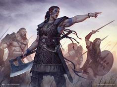 "wizardsmagic: ""Saskia, the Unyielding, art by Greg Opalinski """