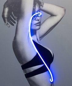 Blindness Neon Lights Portraits by Javier Martin – Fubiz Media