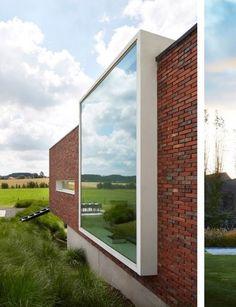 Met duurzame baksteen (Wienerberger) en mooi raamkader