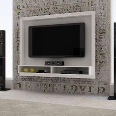 bancada suspensa painel tv ate 42 br lcd led rack home nadia Tv Wall Design, Tv Unit Design, House Design, Lcd Panel Design, Lcd Units, Modern Tv Wall Units, Tv Panel, Tv Wall Decor, Tv Bracket