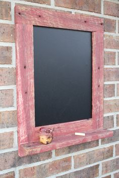 Rustic Red Reclaimed Barn Wood Chalkboard with a Shelf Perfect for Your Home… Barn Wood Crafts, Barn Wood Projects, Home Decor Catalogs, Home Decor Store, Custom Woodworking, Woodworking Projects Plans, Cute Home Decor, Cheap Home Decor, Martha Stewart Home