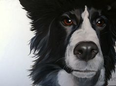 Charlie, by Dawn. 36 x 24, oil and acrylic on canvas. Nfs, 20 x 16 prints available.