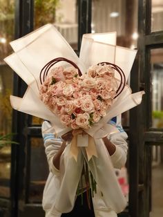 Hand Bouquet, Light Colors, Flower Arrangements, Gift Wrapping, Heart, Flowers, Gifts, Paper Wrapping, Floral Arrangements