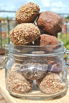 Chocolate Energy Balls made from nut-milk pulp