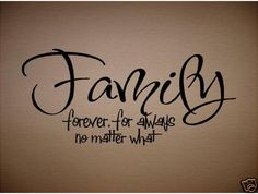 LOVE this...especially since 'no matter what' is our family moto and the title to our first dance at our wedding! :)