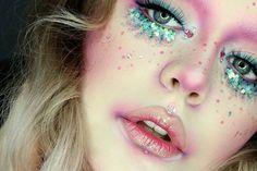 Ethereal glitter halloween makeup
