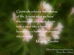 Gratitude unlocks the fullness of life.