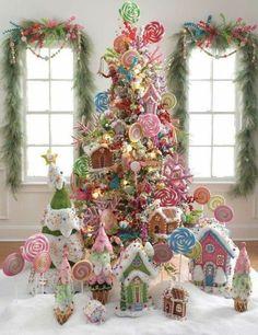 fantastischer Weihnachtsbaum mit Süßigkeiten