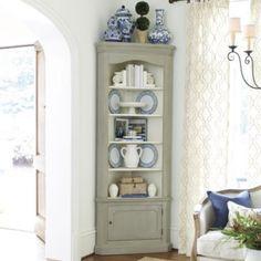 Marlene Corner Display Cabinet Same soft gray as Seneca cabinet?