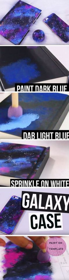 DIY GALAXCY PAINTED PHONE CASE