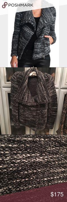 Iro moto sweater jacket NWOT Wool blend New never worn size 40 fits US 6 IRO Jackets & Coats