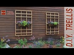 How to Make a Garden Trellis | DIY Trellis - YouTube
