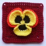 Pansy in square - via @Craftsy