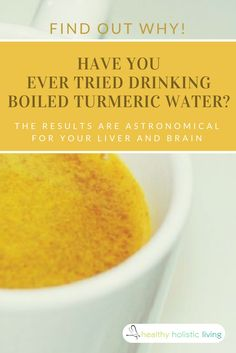 HHLIt's a known fact that turmeric is good for your health, but have you ever tried drinking boiled turmeric water? The results are astronomical for your liver and brain, find out why!!