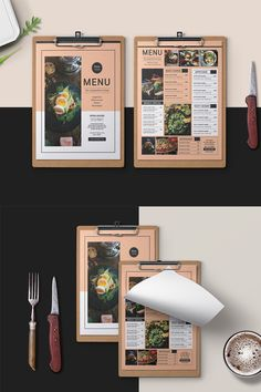 Discover recipes, home ideas, style inspiration and other ideas to try. Menu Restaurant, Restaurant Identity, Restaurant Menu Template, Restaurant Design, Food Graphic Design, Food Menu Design, Design Logo, Design Poster, Design Design