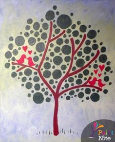 Paint Nite - Love Birds in a Tree