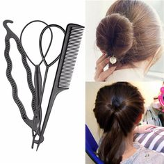 Professional Hair Braid Tool Twist Styling Clip Stick Bun Maker Comb DIY Accessories