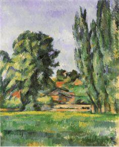 Marronniers et Ferme du Jas de Bouffan, 1885, Paul Cézanne