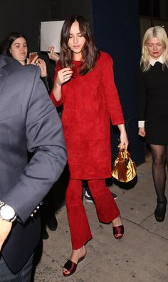 Dakota leaving the The Hollywood Reporter And Jimmy Choo Dinner in LA (Mar. 14th)
