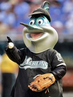 Billy the Marlin competes in a waterboat race during the middle of the 5th inning of each game.