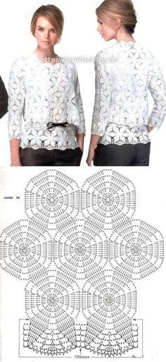 Crochet shawl or blanket pattern