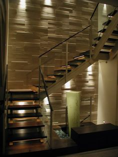 21 Staircase Lighting Design Ideas Pictures Stairs To The Moon intended for Modern Staircase Lighting - Home Interior Design Staircase Lighting Ideas, Stairway Lighting, Ceiling Lighting, Bedroom Lighting, Interior Lighting, Stairs In Living Room, House Stairs, Ramp Stairs, Railing Design