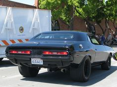 1971 Dodge Challenger, notice the rear window opening, not the usual Challenger