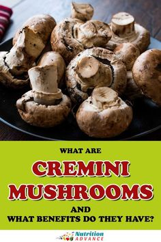 What are cremini mushrooms and what benefits do they have? This guide looks at the nutritional properties of cremini mushrooms. Nutrients In Mushrooms, Health Benefits Of Mushrooms, Mushroom Benefits, Nutritional Value Of Mushrooms, Mushroom Nutrition Facts, Vitamin D2, Maitake Mushroom, Mushroom Cultivation, Nutrition Articles