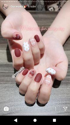 Gel Nail Art, Easy Nail Art, Manicure And Pedicure, Gel Nails, Easy Art, Stylish Nails, Trendy Nails, Cute Nails, Korean Nail Art
