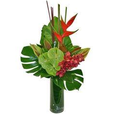 tropical flower arrangements | Tropical Vase Arrangements