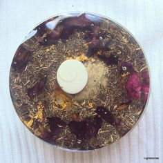 TB Orgone Dome, Space Enhancer with rose quartz and calendula flowers. - Lightstones Orgone , orgonite, EMF protection, orgone pendants, orgone devices, energy jewelry
