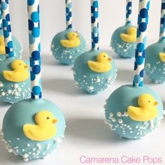 Rubber Duckie Theme Cake Pops