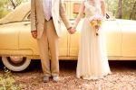 vintage car...Wedding at Wildwood Inn  www.Denton-WildwoodInn.com  #vintagewedding  #yellowcar