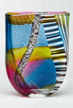 Jeffrey P'an Philip series, These vessels are inspired by Philip Johnson's Glass House in New Canaan, CT. Glass Ceramic, Mosaic Glass, Ceramic Art, Fused Glass, Glass Art, Philip Johnson Glass House, Glass Marbles, Glass Design, Hand Blown Glass