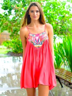 Vacation pretty!!! Beautiful color and you can wear for any summer occasion!