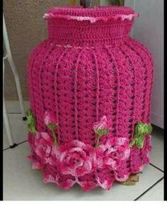 Crochet Diy, Crochet Home, Crochet Gifts, Irish Crochet, Crochet Doilies, Crochet Flowers, Crochet Jar Covers, Crochet Kitchen, Crochet Projects