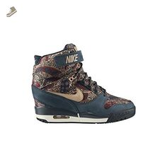 separation shoes bc518 3c710 Nike Air Revolution Sky Hi Liberty QS Womens Wedge Shoes 632181 (5, Armory  Navy