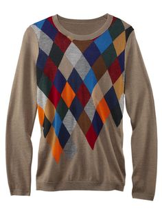 Argyle Sweaters for Women - Argyle Sweater Trends Fall 2012 - Marie Claire