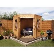 Image result for sedum topped flat roofed summer corner summer house