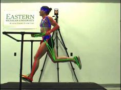 This is a NCAA Division I track athlete running at 10 mph. Video captured at 100 frames per second, with 3D overlay for biomechanical analysis.