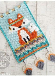 Crochet Fall, Crochet Home, Crochet Crafts, Crochet Projects, Crochet Wall Art, Crochet Wall Hangings, Tapestry Crochet, Amigurumi Patterns, Crochet Patterns