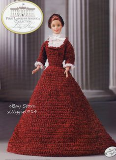 """HAYES""~Crochet PATTERN fits BARBIE FASHION DOLL~Annie's FIRST LADIES"
